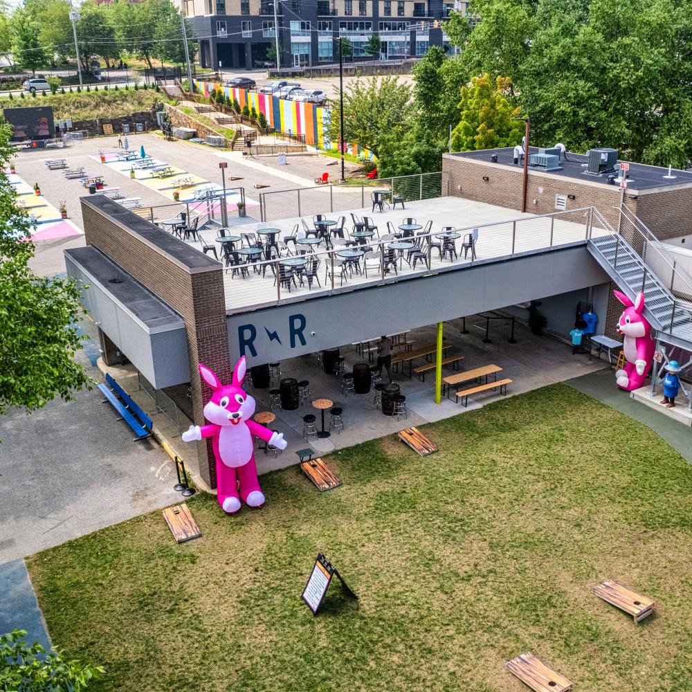 Aerial view of Rabbit Rabbit music venue