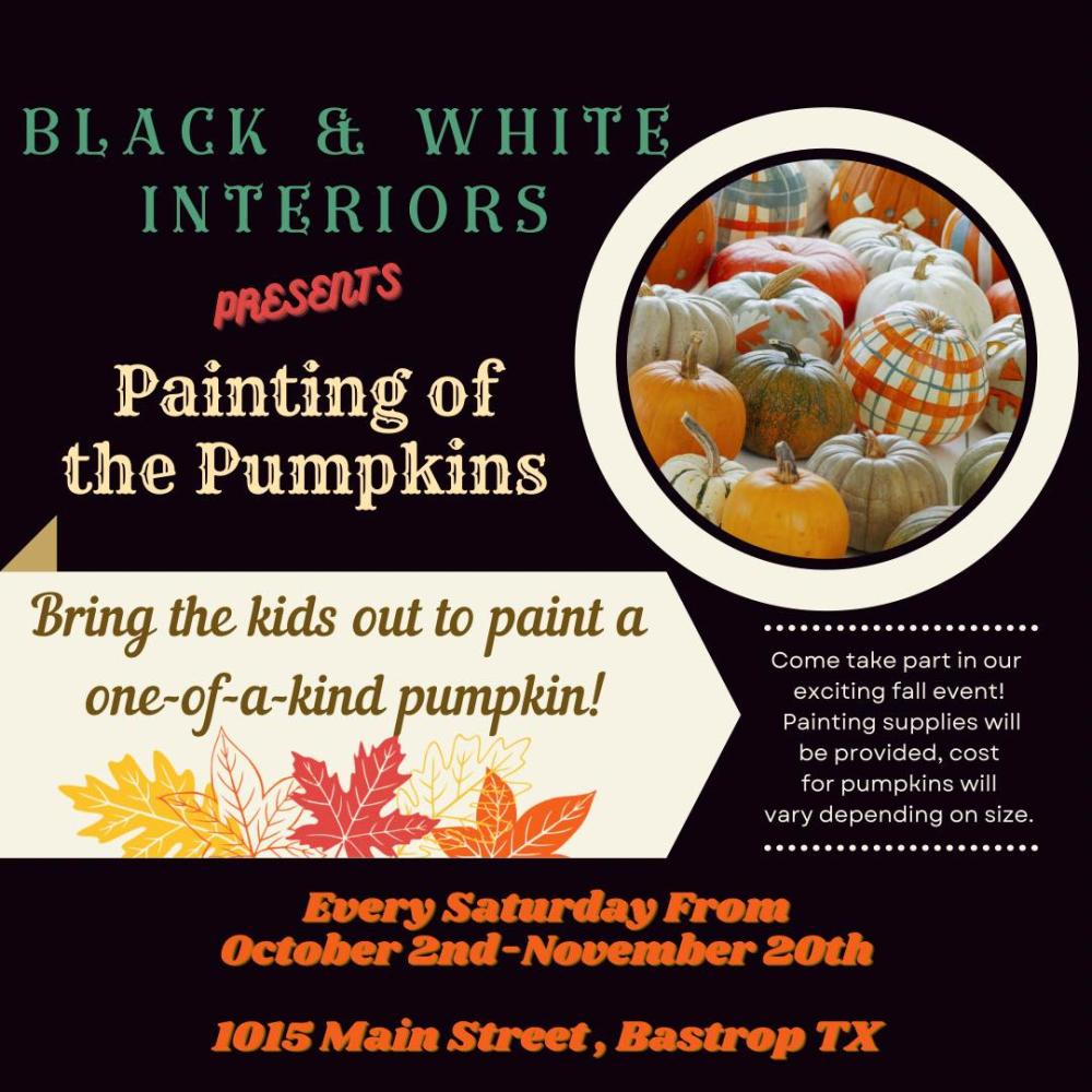 Painting of the Pumpkins 2021 Black & White Interiors