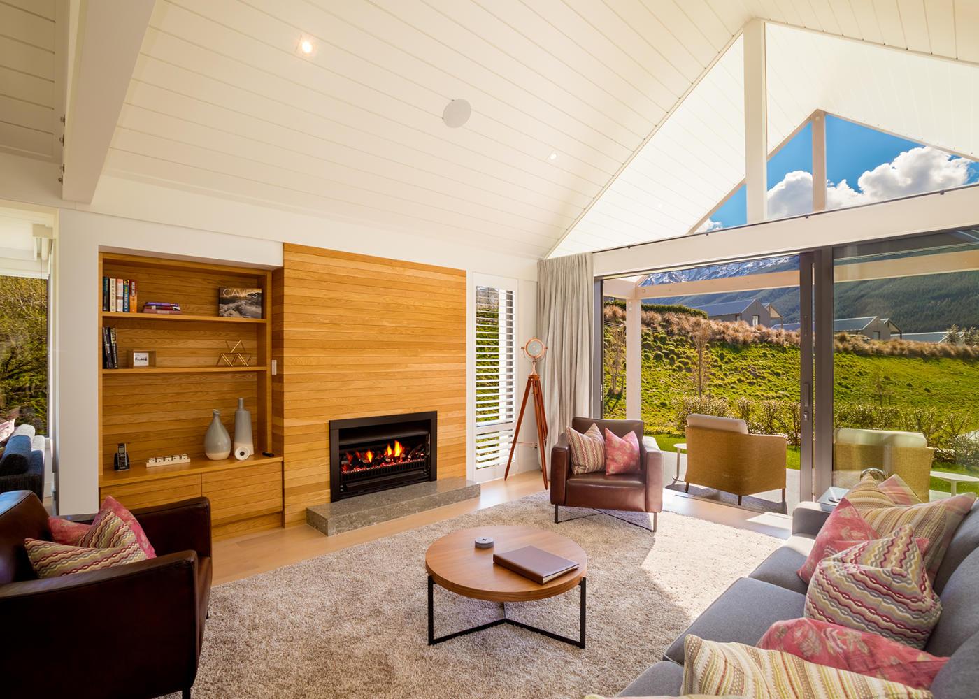 Luxurious interior of lounge at Millbrook Resort