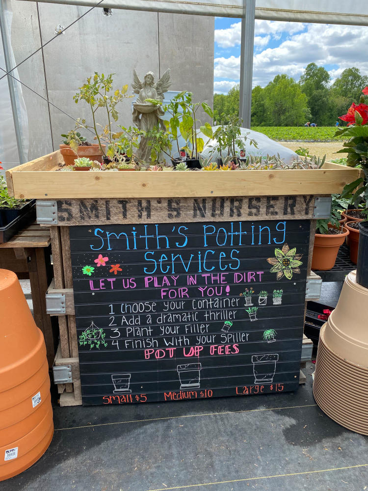 Smith's Nursery Plant Potting Services Stand