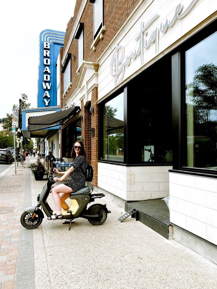 Scooters from the boutique on Broadway - Daniel Dalman
