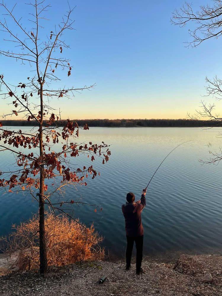 Fishing at Fellows Lake