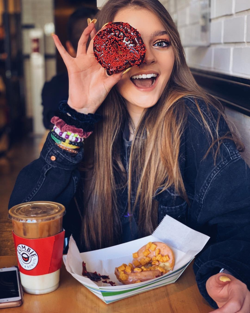 Girl at Zombie Donuts