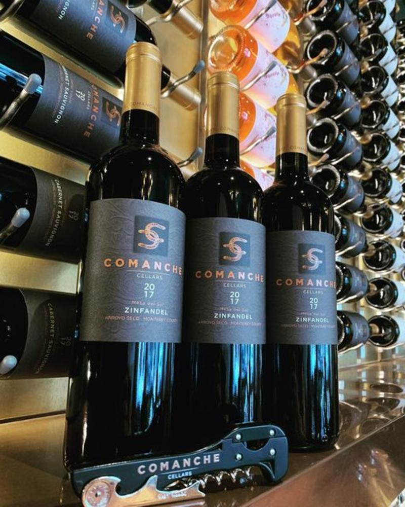 Wine bottles from Comanche Cellars