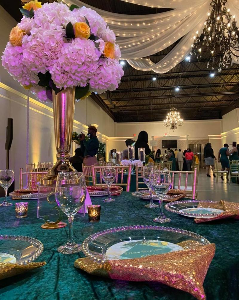 Party and Flowers at Parkers Event Venue In Milledgeville, GA