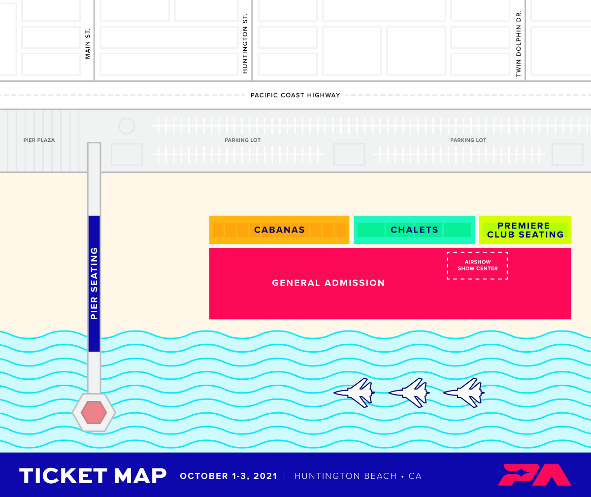 Pacific Airshow Map