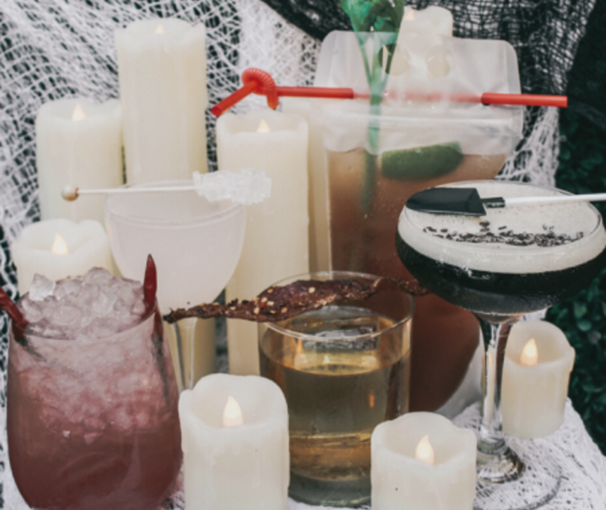 Halloween themed cocktails at Tanner's & Treehouse Lounge at Paséa Hotel & Spa