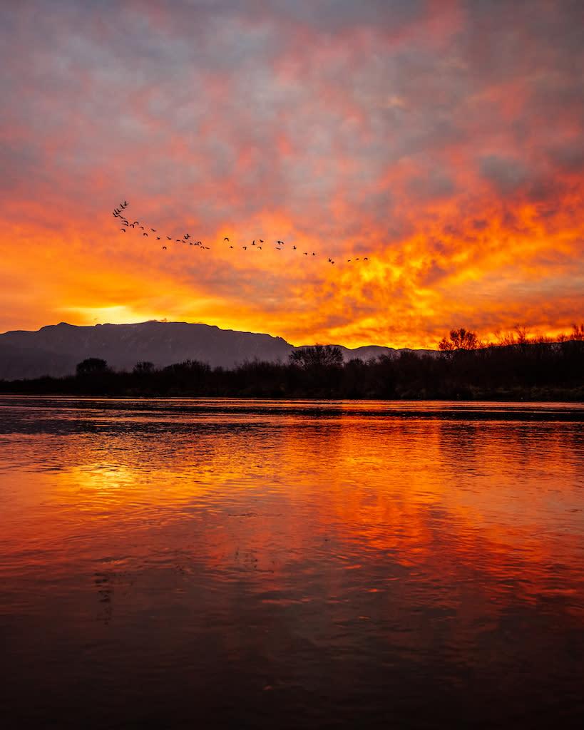 Sunrise on the Rio Grande