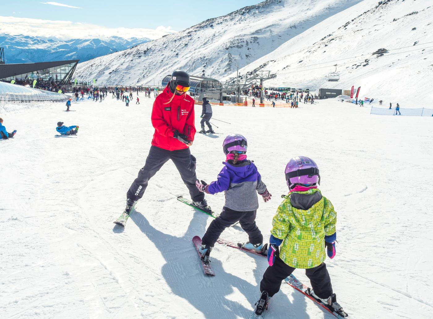 Kids Ski lesson at The Remarkables