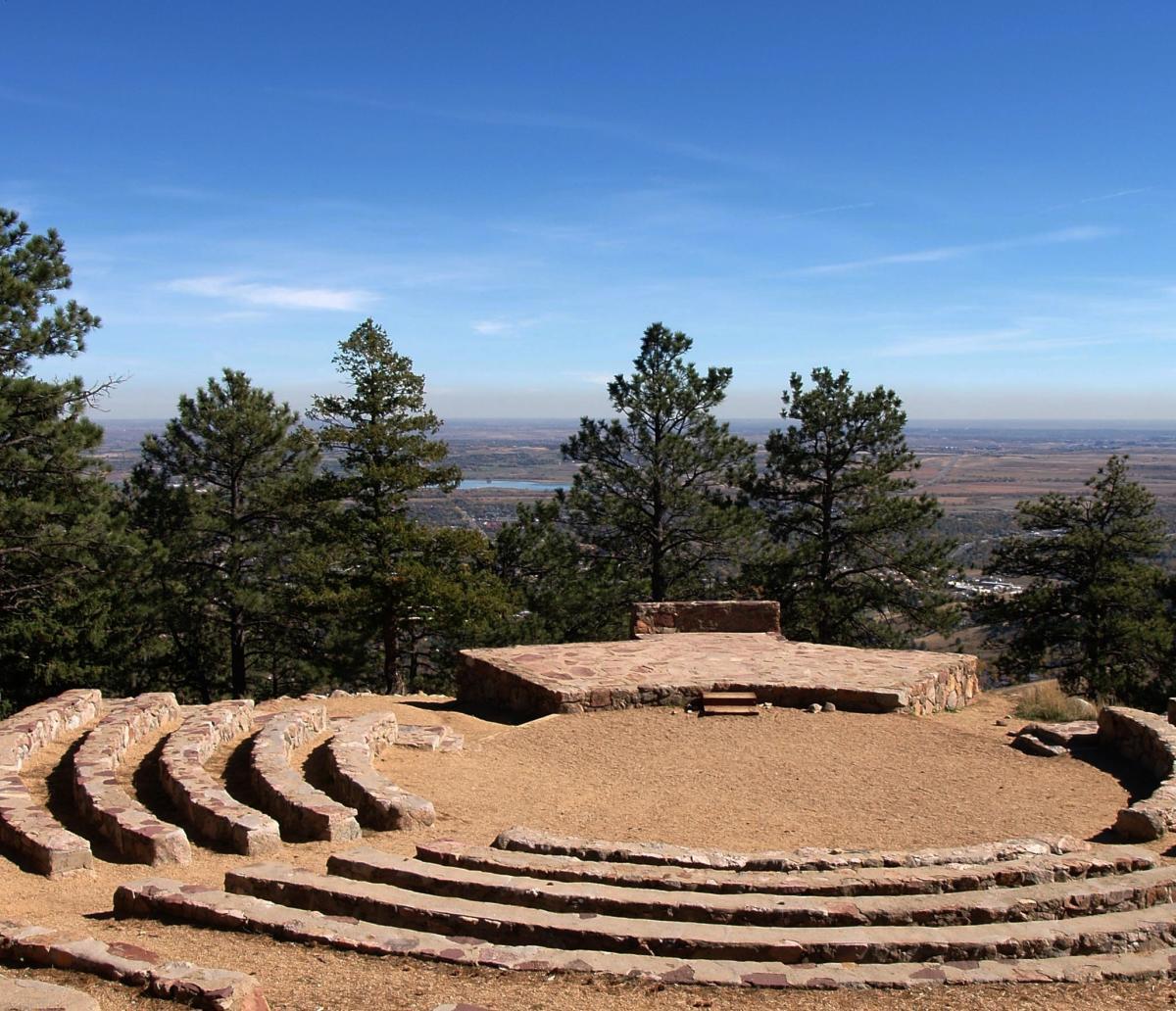 Sunrise Amphitheater Boulder