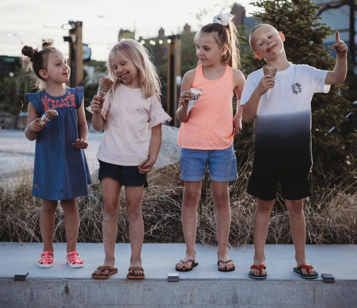 Children in Downtown Casper, Wyoming