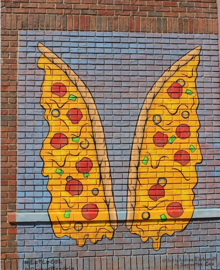 Pizza Wings Mural