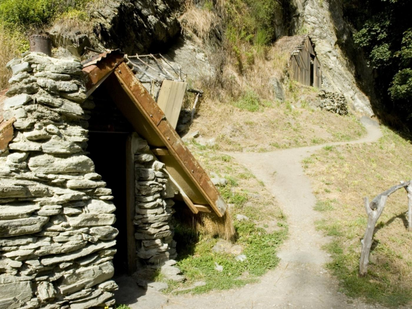 A hut situated in the Chinese Village in Arrowtown