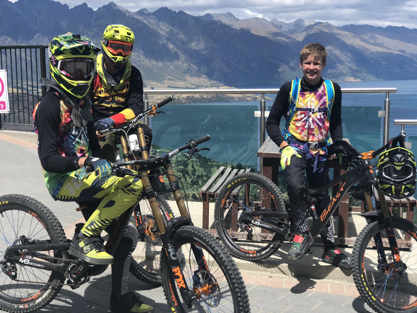 Meek Boys with Friends at Queenstown Mountain Bike Park, accessed by Skyline Gondola