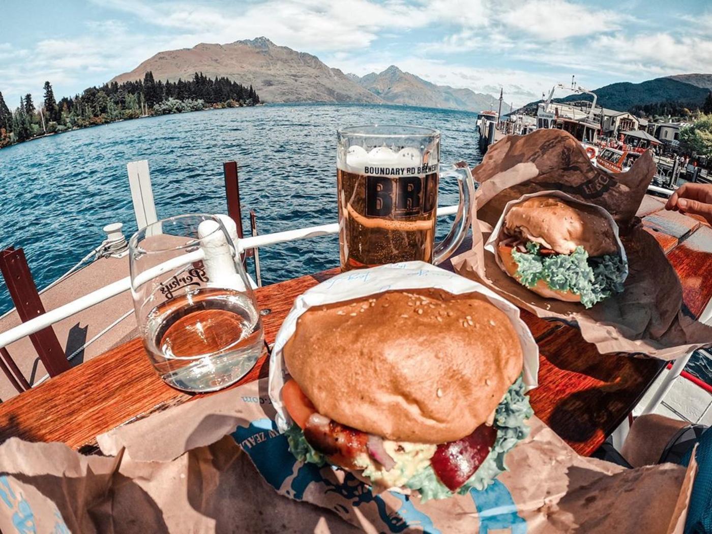 Al Fresco Dining at Perky's Floating Bar