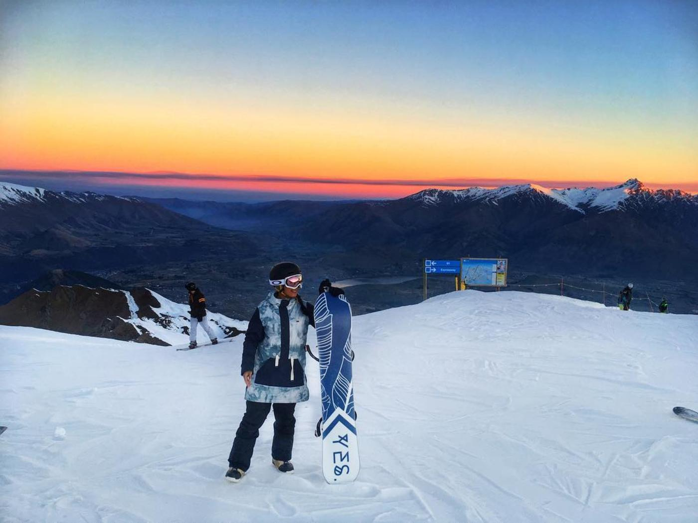Sunsets from Coronet Peak