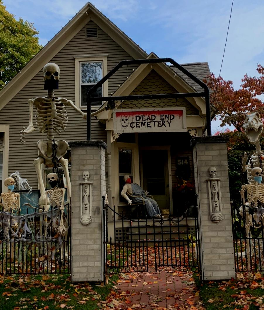 House Decorated for Halloween - Central Neighborhood Historic District