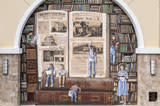 Punta Gorda Historical Mural Society Mural: Pages From Our Library's Past