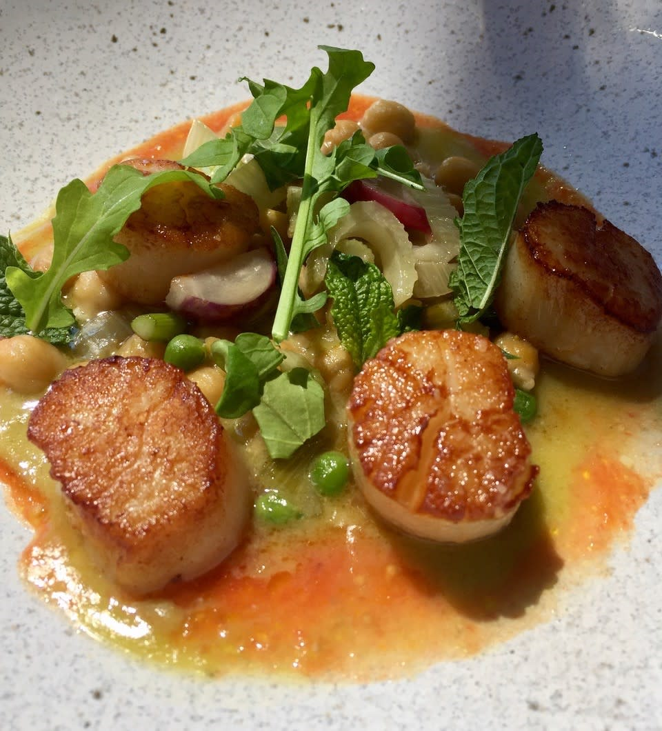 Wild Caught Scallops Dish at Mission Hill Family Estate Winery