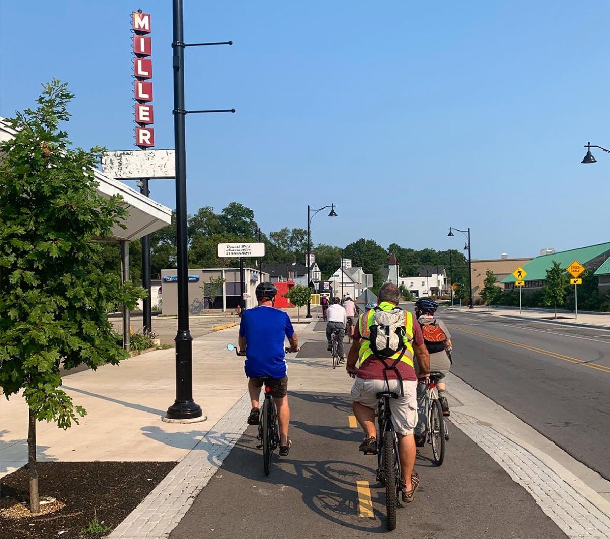 Decay Devils Preservation Ride Through Miller Beach - Miller sign