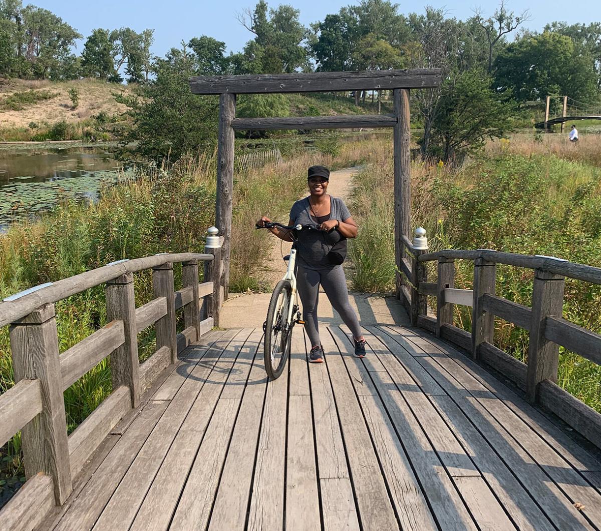 Decay Devils Preservation Ride Through Miller Beach - lagoon bridge