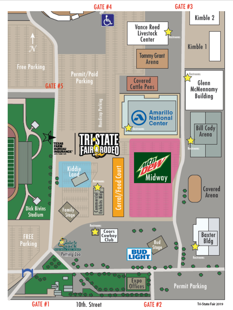 Tri STate Fairgrounds Map