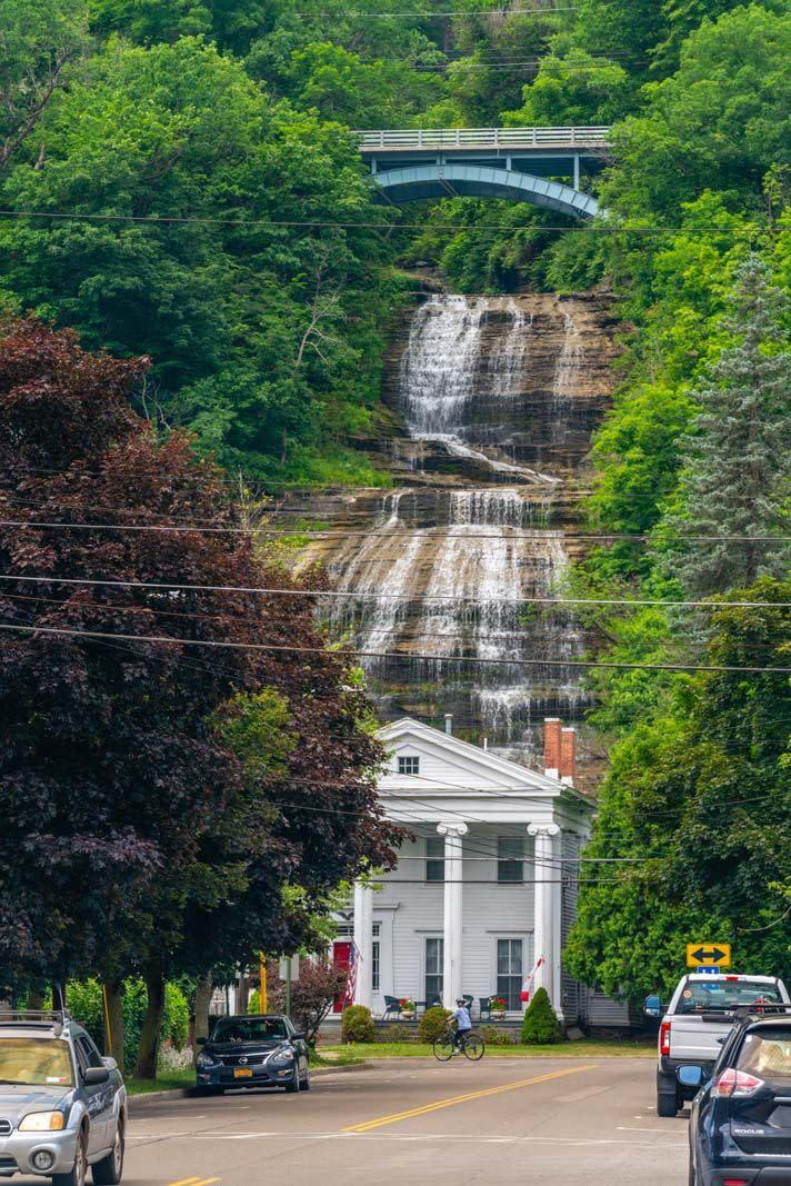 She-Qua-Ga Falls in Montour Falls in Finger Lakes Wine Country