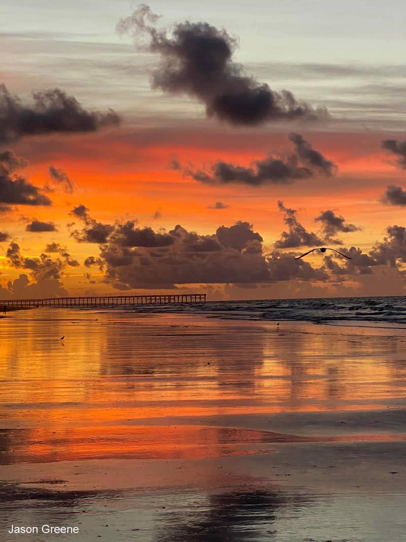Sunrise in Ocean Isle Beach, North Carolina.