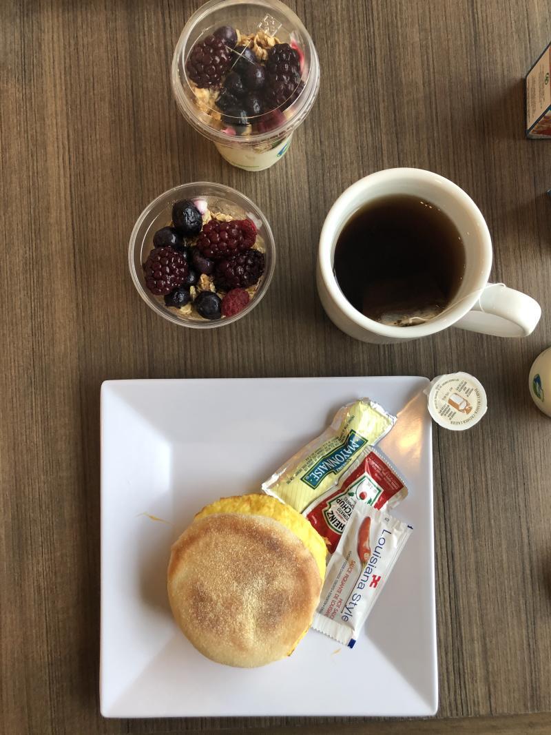 Continental Breakfast at Hyatt Kelowna