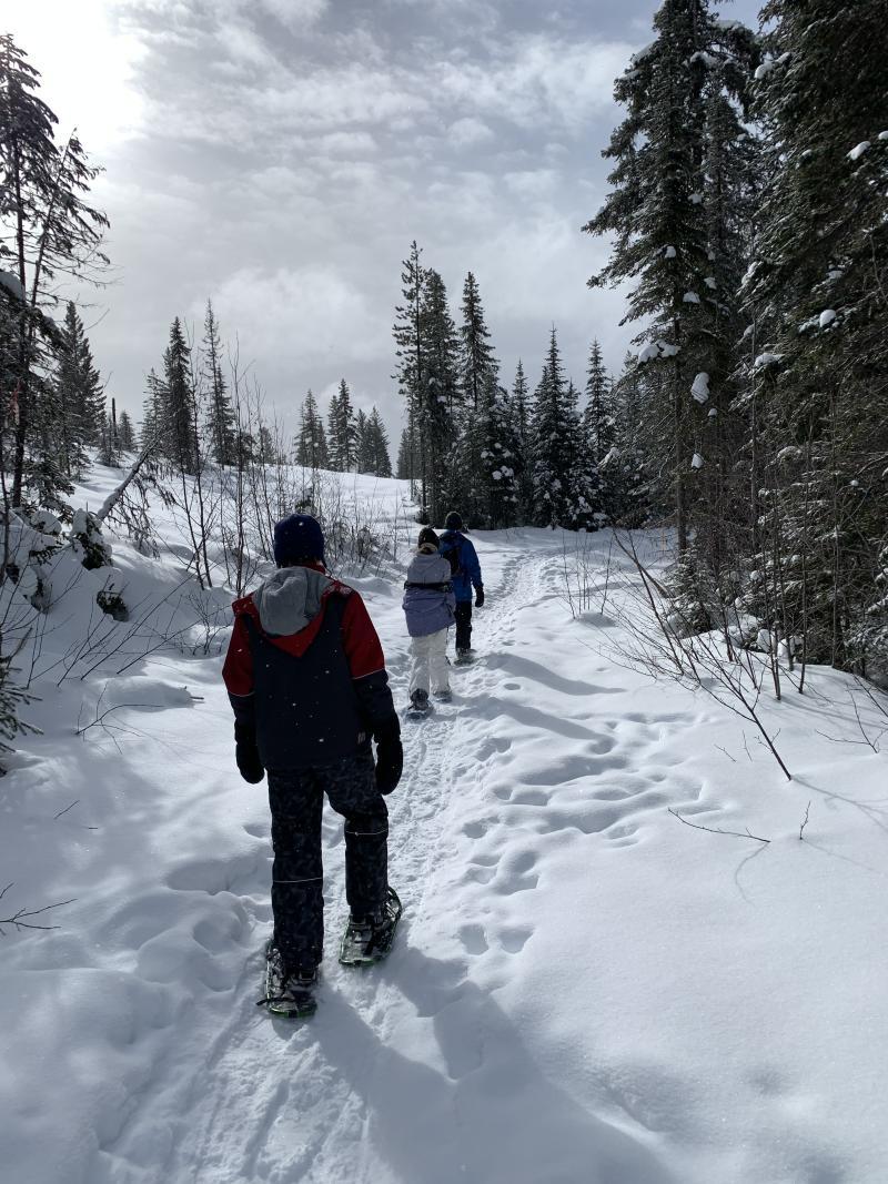 Snowshoeing at the Kelowna Nordic Ski and Snowshoe Club