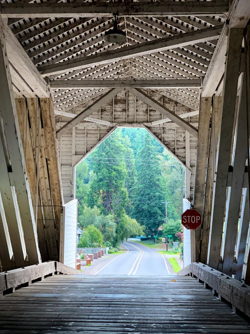 Office Covered Bridge in Westfir by Melanie Griffin