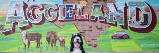 Aggieland Mural Dog
