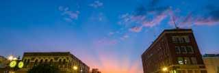 Downtown Bryan Sunset