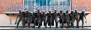 War Hymn Statue TAMU Kyle Field 12th Man