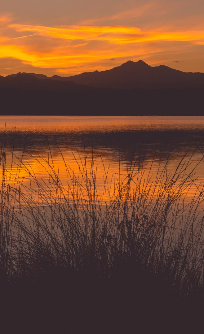 Sunset Skyline Longs Peak