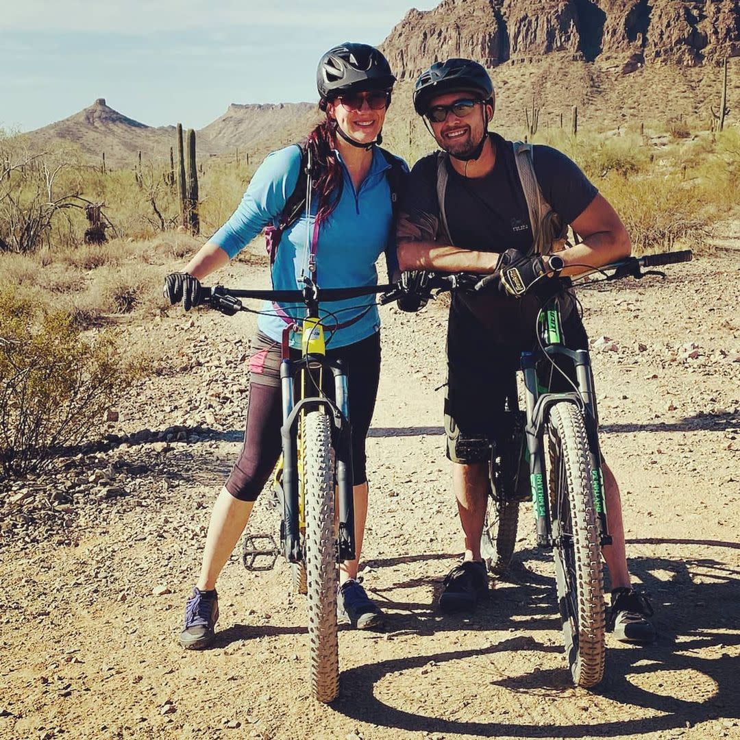 Couple Biking at San Tan Mountain Regional Park