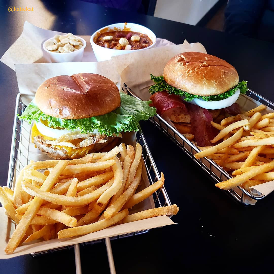 Burgers from Mr. Brews Taphouse in Chandler