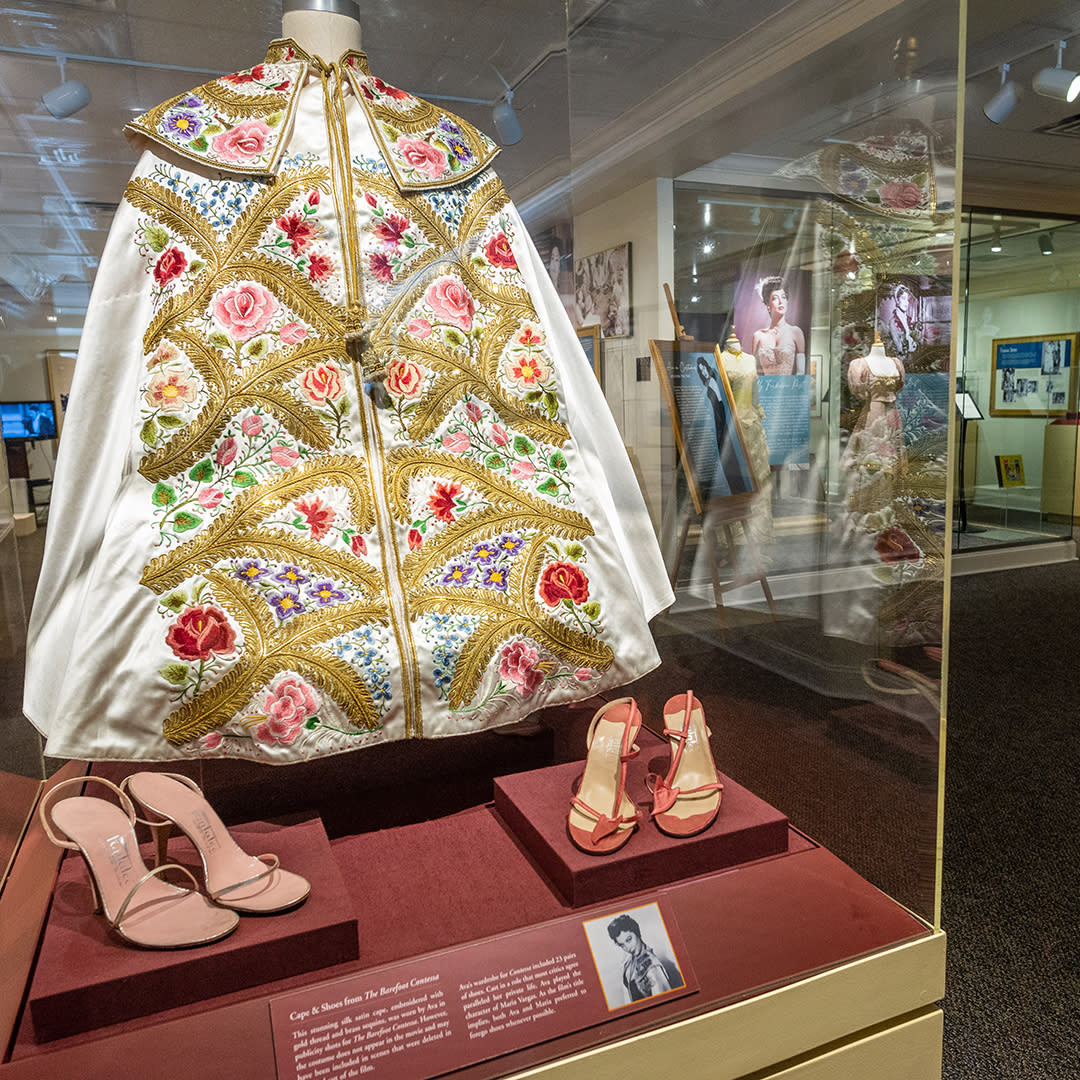 Ava Gardner Museum, The Barefoot Contessa cape in the collection.