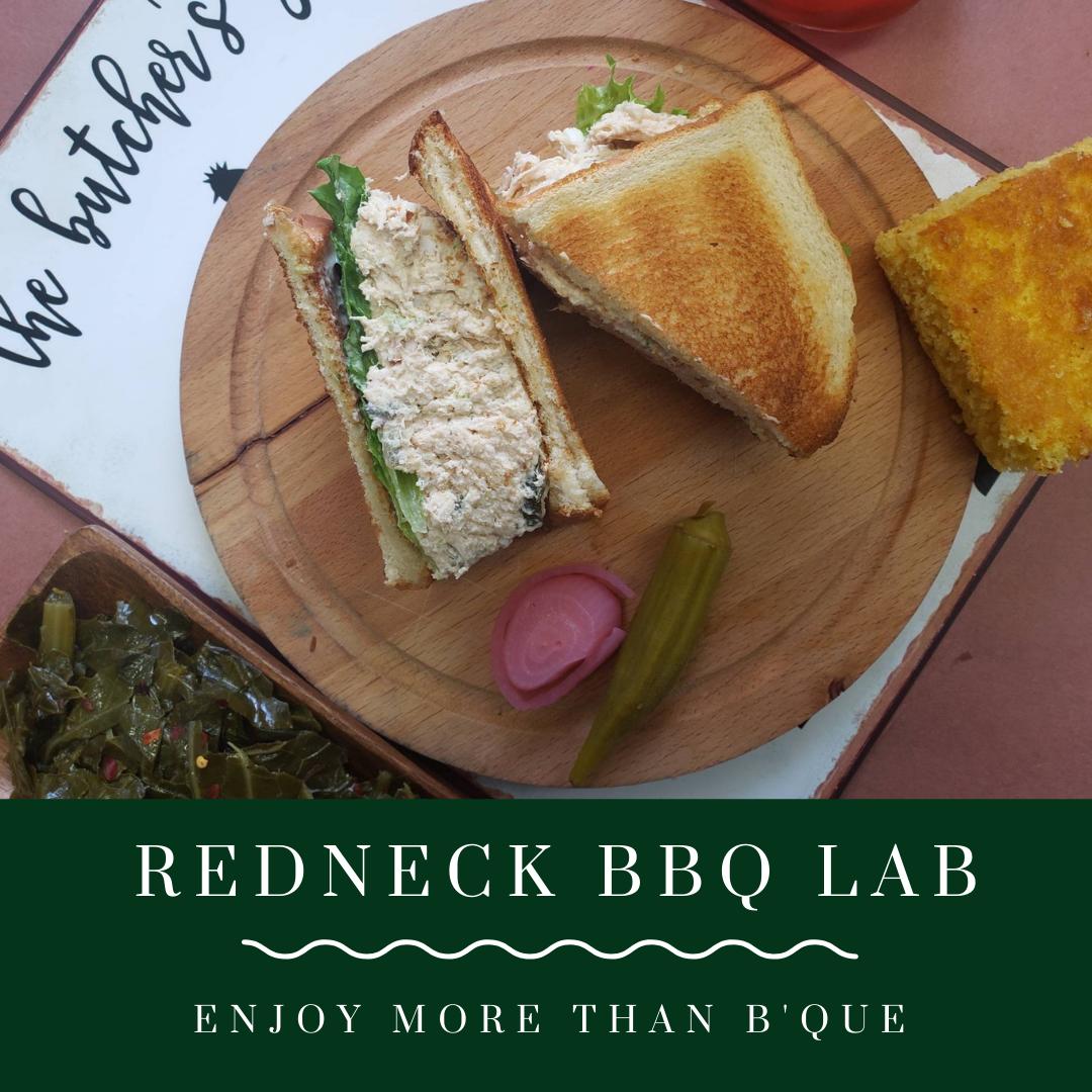 Redneck Chicken Salad plate from Redneck BBQ Lab.