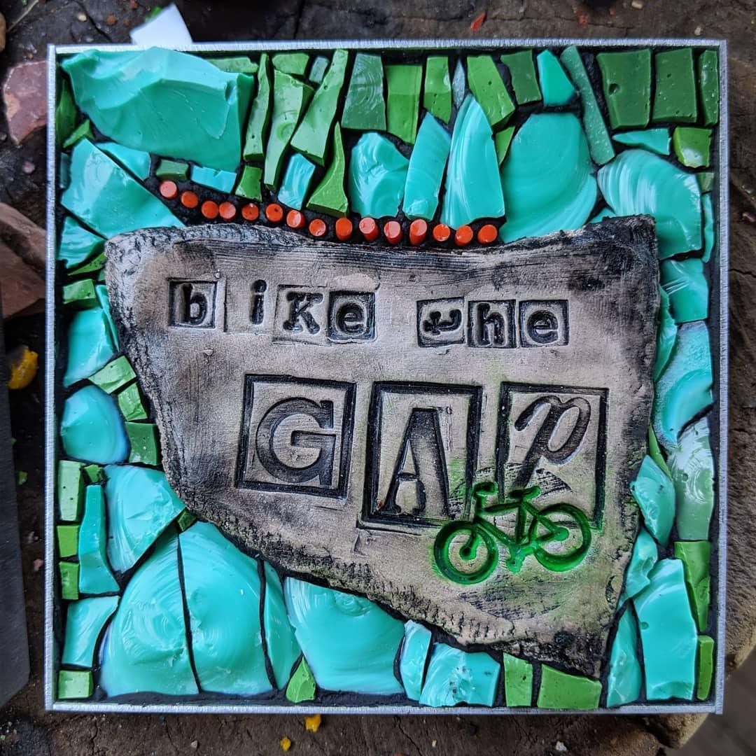 Bike the GAP mosaic, Sager Mosaics