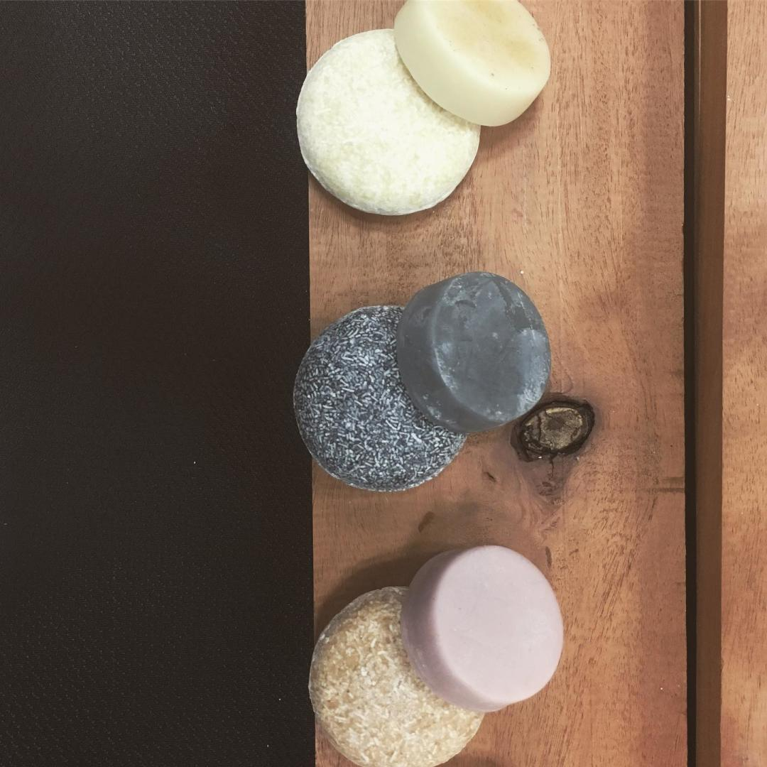 Shampoo and conditioner bars from Green Life Trading Company in Madison, WI