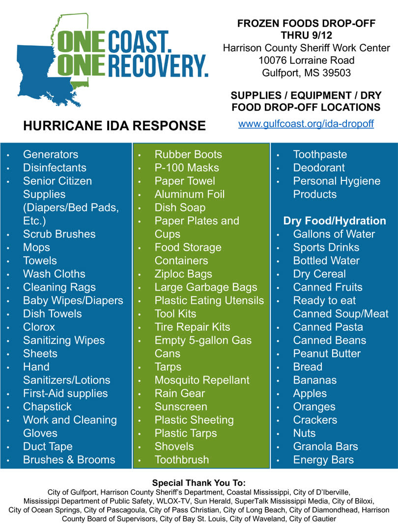 One Coast One Recovery Graphic