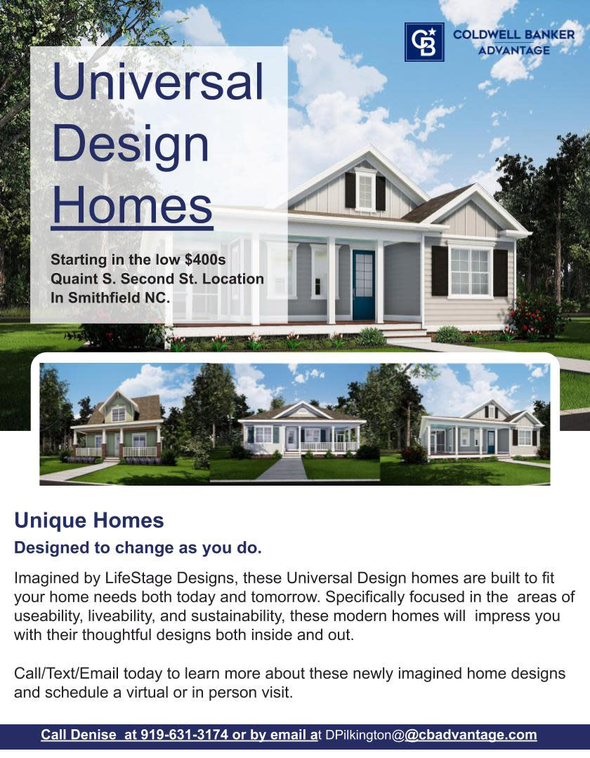 Universal Design Homes in Smithfield, NC.