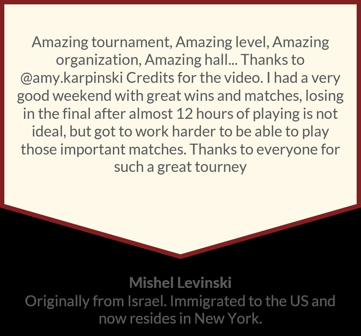 Sports Testimonial Table Tennis Player