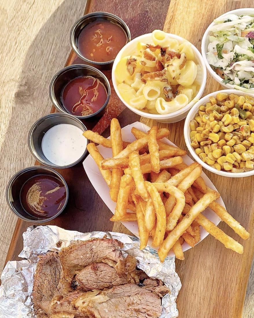 Santa Maria BBQ. Image of Fries and BBQ.