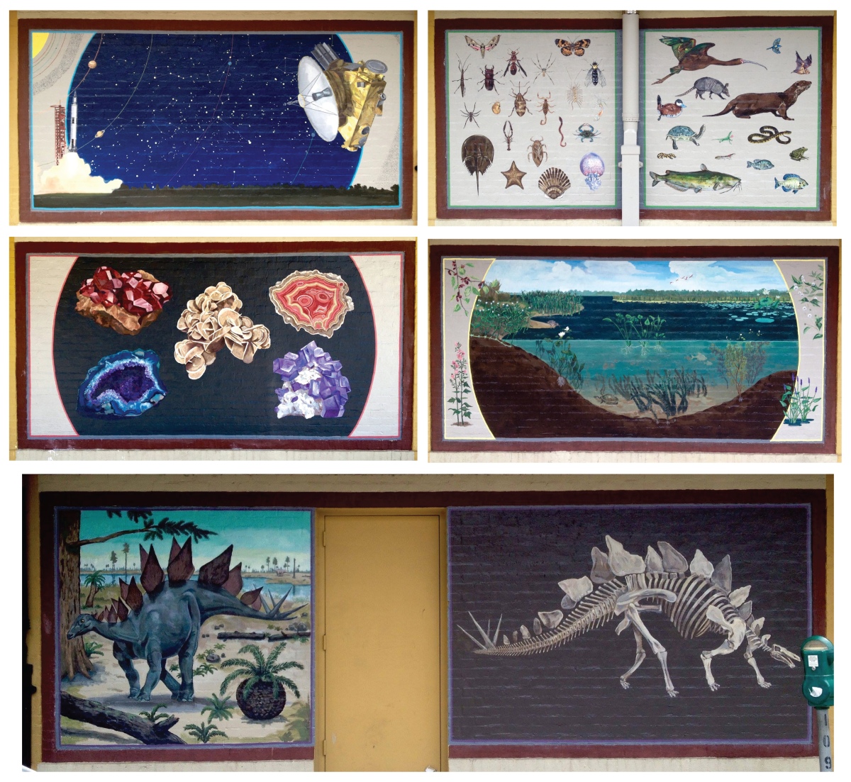 """Mural by Chris Pavlick titled """"Fields of Study"""" at the Lafayette Science Museum"""