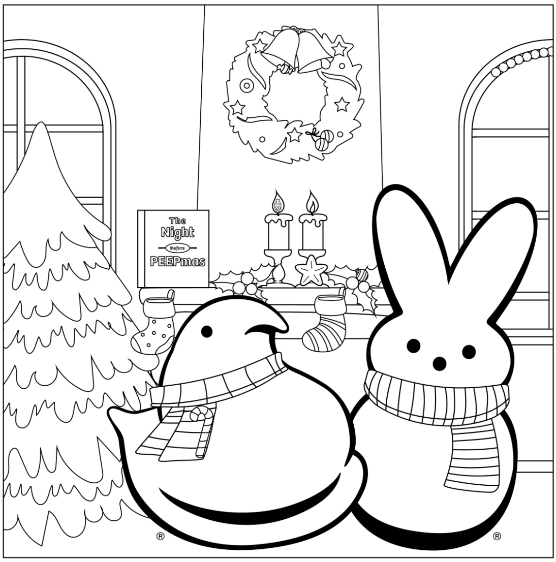 Peeps Coloring page activity download