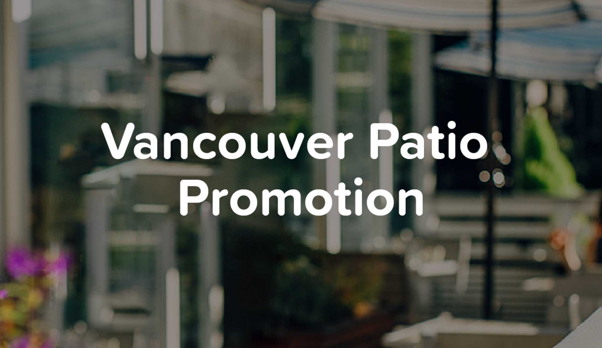 Patio Promotion