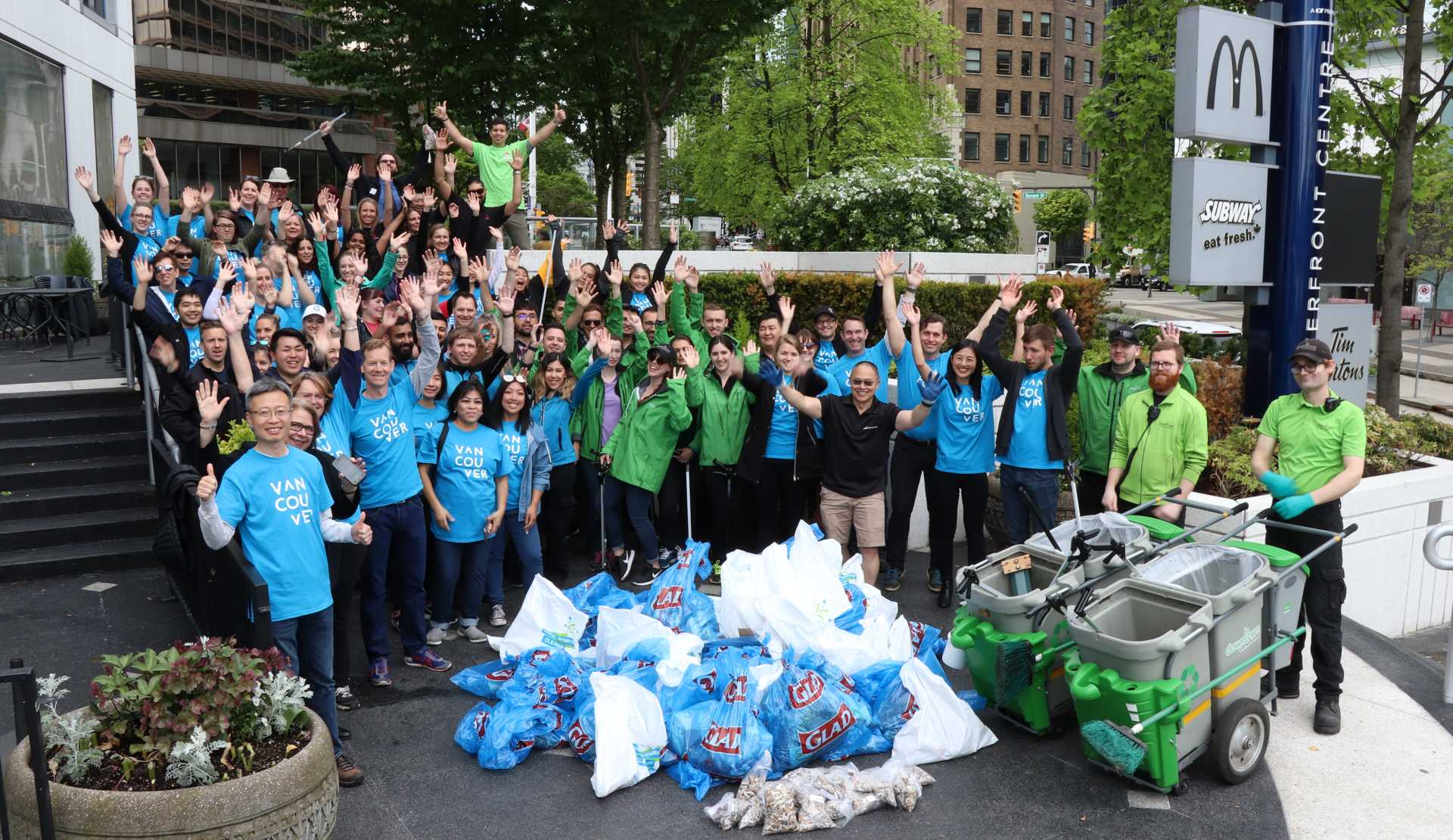 Tourism Vancouver member businesses at the 24th Neighbourhood Clean Up Party