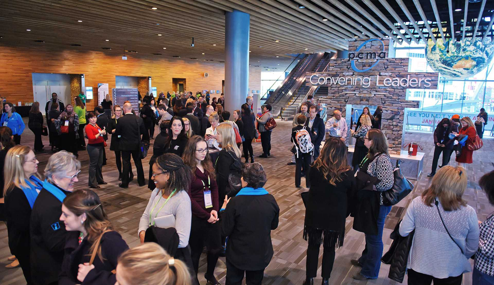 Delegates at the Vancouver Convention Centre